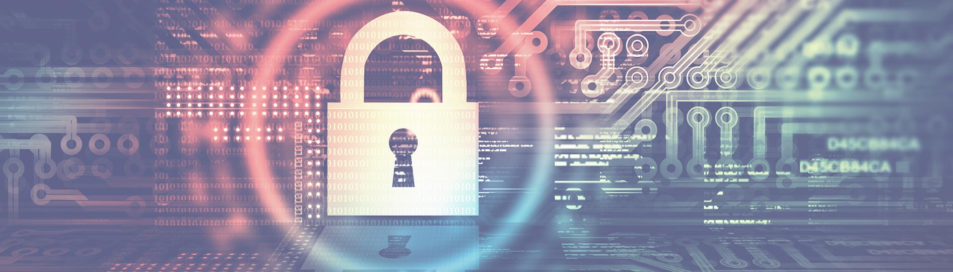 Sicherheitsschloss als Symbol für IT-Sicherheit