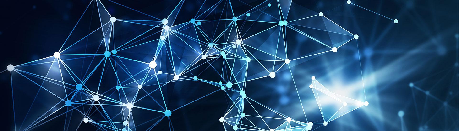 Abstrakte Darstellung von Netzwerkverbindungen